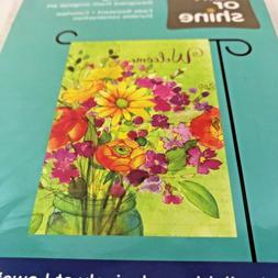 Porch Flag Welcome Flowers Floral Bouquet Small 12.5 x 18 Ya