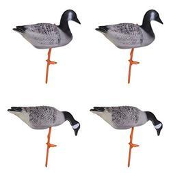 Homyl Set of 4 Portable Full Body Goose Hunting Decoys Lawn