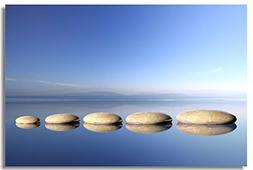 1x Poster Zen Stone Garden Rocks Spa Bamboo Fountain Japan F