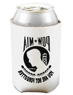 POW MIA Not Forgotten Can and Bottle Insulator Cooler - Whit