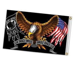Hot Leathers POW MIA All Gave Some Some Gave All Eagle Polye