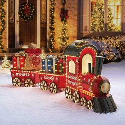 """Pre-Lit LED Vintage Christmas Holiday Express 80"""" Outdoor Tr"""