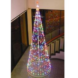 "Homebrite 120"" Prelit Artificial Christmas LED Outdoor Cone"