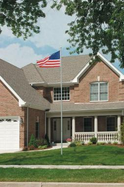 Uncommon Presidential Series Flagpole 20' - Silver