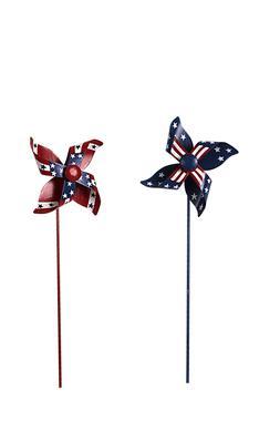 Primitive Metal American Glory Pinwheel Pick Memorial Day Ju