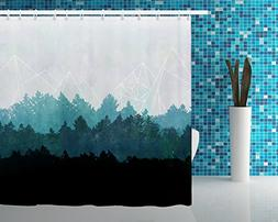 Printed Fabric Shower Curtains Home Textile European Style 7
