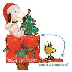 """Product Works 32"""" Snoopy and Woodstock Sitting On a Mailbox,"""