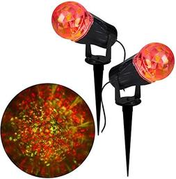10 In Projection Kaleidoscope LED RRY Light Stake  Outdoor H