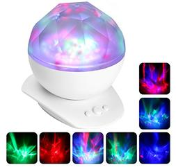 Projection Lamp, ATiC LED Night Light with 8 Flash Modes, M