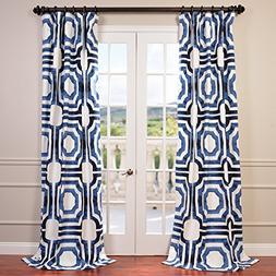 Half Price Drapes PRTW-D23B-120 Mecca Printed Cotton Curtain