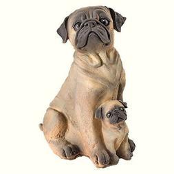 Pug Dog Statue Outdoor Garden Figurines Large Sculpture Yard