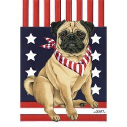 Pug Patriotic Breed Garden Flag