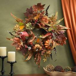 Pumpkin and Berry 24-inch Wreath Multi Under 24 inches