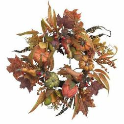 24 Inch Pumpkin and Berry Wreath