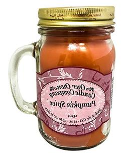Pumpkin Spice Scented 13 Ounce Mason Jar Candle By Our Own C