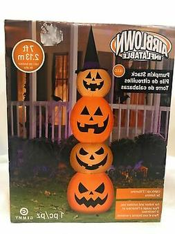 At Home Pumpkin Stack Inflatable 7 Foot