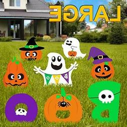 Pumpkins Ghost Corrugate Yard Signs Trick or Treat Party Pla