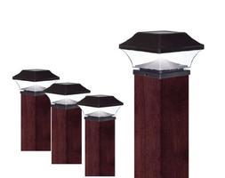 EZSolar QTP7-R2-BK-4 2X Brighter Premium Solar Plastic Post
