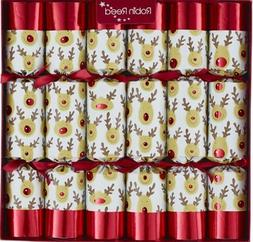 "6 X 13""  Racing Reindeer Christmas Crackers By Robin Reed -"