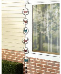 Rain Chains with Motion Butterflies/Bees/Windmill Designs Ga