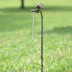 SPI Home Rain Gauge Dragonfly Garden Yard Stake Decor Rain M