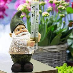 Rain Gauges Outdoor Gnome Figurine Bits and Pieces Hand Pain