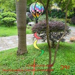 Rainbow Stripe Windsock Hot Air Balloon Wind Spinner Outdoor