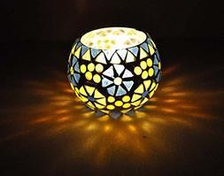 Rajasthani Handmade Mosaic Glass Candle Holder Christmas Gif
