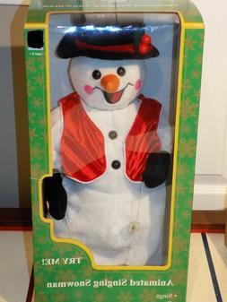 RARE Gemmy North Pole Production Animated Snowman Singing Sn