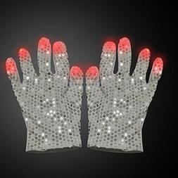 SZCSY LED Raver Gloves- Costume Show Prop Toy for Boys Girls