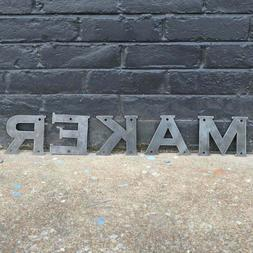 Raw Metal Letters - House Address - Nursery Baby Name - Fami