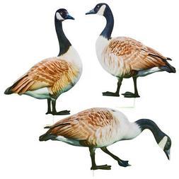 Realistic Geese Metal Yard Stakes - Set of 3