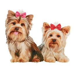 Realistic Yorkie Photo Decorative Yard Stake, by Collections