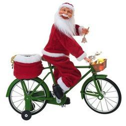 Holiday Time Really Cycling Santa Christmas Decoration Yard