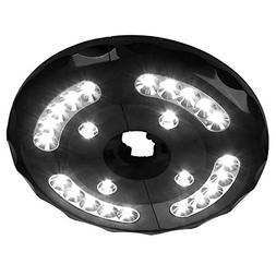 AMIR Rechargeable Patio Umbrella Lights, Cordless 24 LED Umb