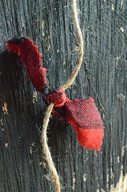 red and black lumberjack tartan plaid fabric rag Christmas o