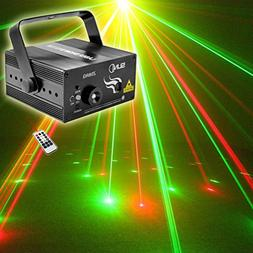 SUNY Red Green Laser Blue LED 8 Gobos Effect Professional Pr
