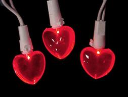 Set of 20 Red LED Mini Valentine's Day Heart Christmas Light
