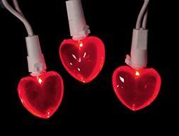 Set of 20 Red LED Mini Valentine's Day Heart Christmas Light