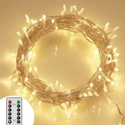 36ft 100 LED Outdoor Battery Fairy Lights 8 Modes IP65