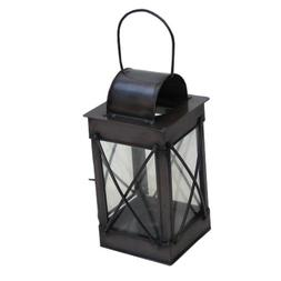 Reproduction Old Fashioned Candle Lantern in IronAntique Fin