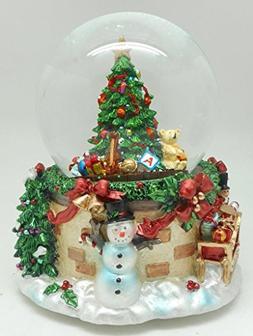Lightahead® 100MM RESIN CHRISTMAS TREE musical water ball T