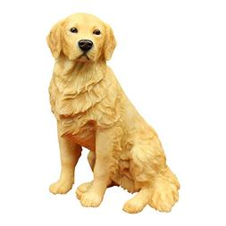 Resin Crafted Golden Retriever Statue-Puppy Dog Resin Figuri