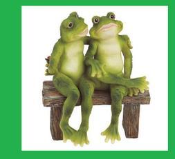 Funny Frog Statue Resin Garden Outdoor Yard Lawn Patio Home