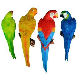 Resin Parrot Birds Ornament Outdoor Garden Tree Statue Lawn