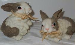 Resin Rabbits Yard Art Easter Garden Decor Animals Out Door