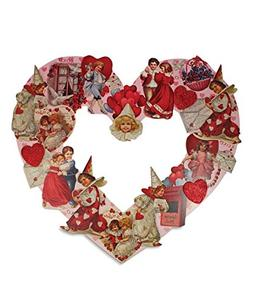 Bethany Lowe Retro Die Cut Valentine Heart Wreath RL4686