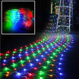 ActionFly Multi-Color Outdoor RGB 96 LED Net Mesh Fairy stri