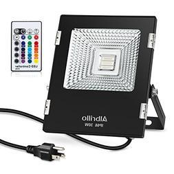 Albrillo 30W Outdoor RGB LED Flood Lights Waterproof LED Flo