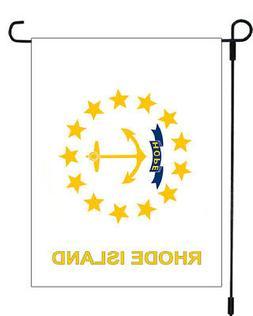 Rhode Island State Seal Emblem Garden Banner Flag 12x18 Yard